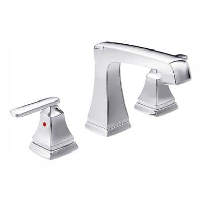 Ashlyn 8 in. Widespread 2-Handle Bathroom Faucet with Metal Drain Assembly in Chrome