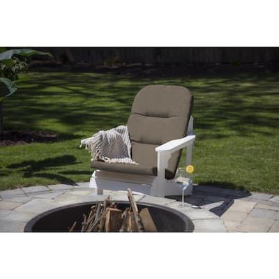 20.5 x 49 Sunbrella Cast Shale Outdoor Adirondack Chair Cushion