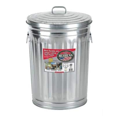 20 Gal. Galvanized Garbage Can
