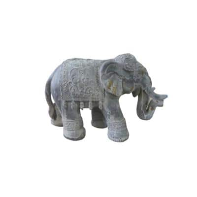Metal Boho Elephant Statue