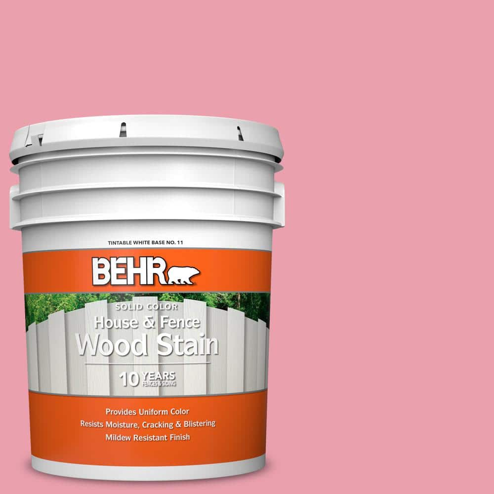 Behr 5 Gal P150 3 Pinque Solid Color House And Fence Exterior Wood Stain 01105 The Home Depot