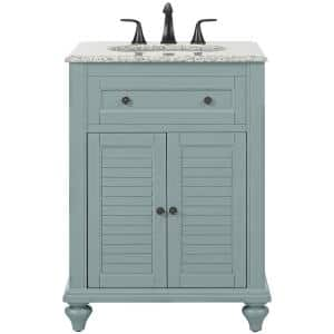 Home Decorators Collection Hamilton 31 In W X 22 In D Bath Vanity In Grey With Granite Vanity Top In Grey 10806 Vs31h Gr The Home Depot