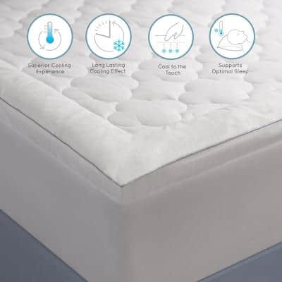 250 Thread Count Serenity Cool Sleep Polyester Filled Cal King Mattress Pad