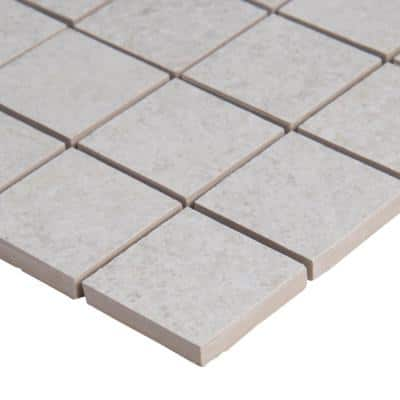 Brixstyle Blanco 12 in. x 12 in. x 10mm Matte Porcelain Mesh-Mounted Mosaic Tile (6 sq. ft./Case)