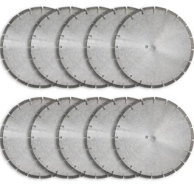 14 in. Sintered 10 mm Wet/Dry General Purpose Concrete Diamond Saw Blade (10-Pack)