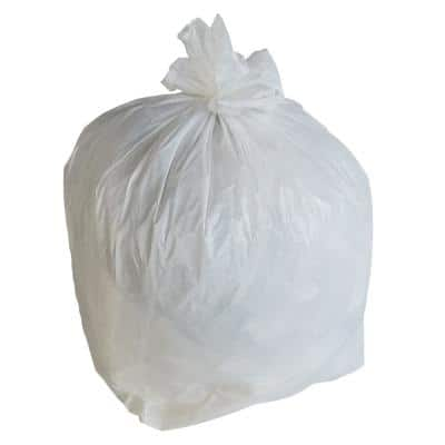 30 in. W x 36 in. H 30 Gal. 0.7 Mil White Trash Bags (200-Count)