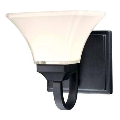 Agilis 1-Light Black Bath Light