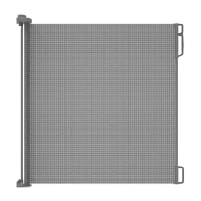 41 in. H Extra Tall and Extra Wide Outdoor Retractable Gate, Gray