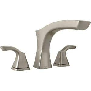 Tesla 2-Handle Deck-Mount Roman Tub Faucet Trim Kit in Stainless (Valve Not Included)