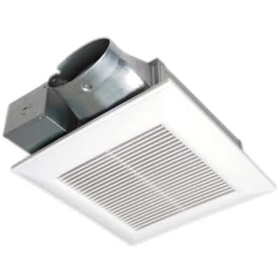 WhisperValue DC Pick-A-Flow 50, 80 or 100 CFM Ceiling or Wall Low Profile Housing Depth Energy Star Bath Exhaust Fan