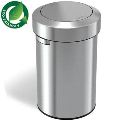 Swing Push Trash Cans, Bathroom Trash Can With Swing Lid