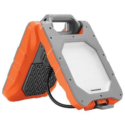 3600 Lumens, 40-Watt Foldable LED Bluetooth Work Light with Stand