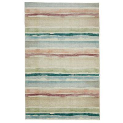 Seaside Stripe Multi 5 ft. x 8 ft. Striped Area Rug