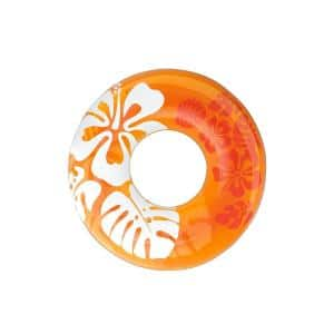 36 in. Colorful Transparent Inflatable Round Swimming Pool Ring Float