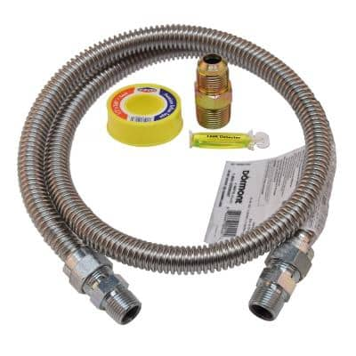 48 in. Stainless Steel Range Gas Connector Kit