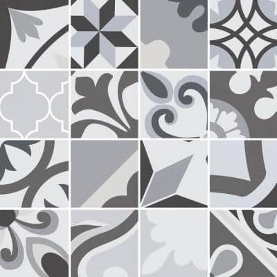 Lumier Black 6.5 in. x 6.5 in. Glazed Porcelain Floor and Wall Tile (5.92 sq. ft./case)