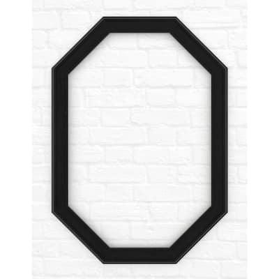 33 in. x 46 in. (L3) Octagonal Mirror Frame in Matte Black