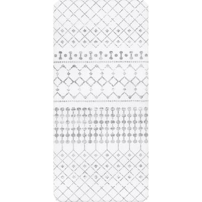 Moroccan Anti Fatigue Kitchen or Laundry Room Light Grey 18 in. x 30 in. Indoor Comfort Mat