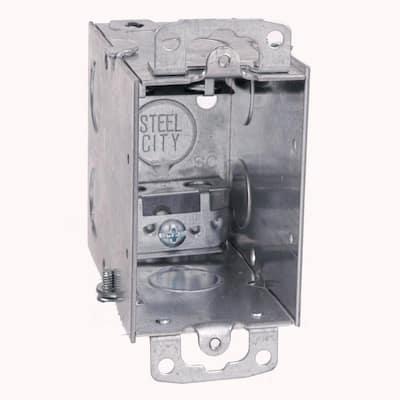 18 cu. in. Old Work Pre-Galvanized Metal Gangable Switch Box