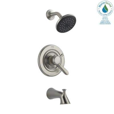 Lahara Single-Handle 1-Spray Tub and Shower Faucet in Stainless (Valve Included)