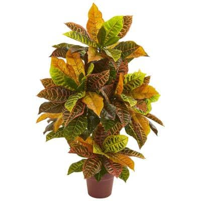 Indoor 36 in. Croton Artificial Plant