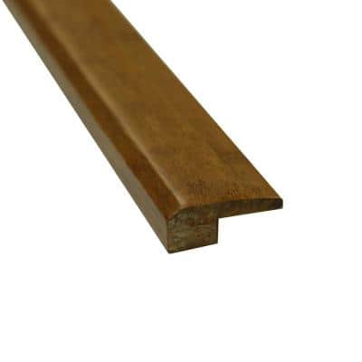 Carbonized 3/4 in. Thick x 2 in. Wide x 72-3/4 in. Length Strand Bamboo Threshold Molding