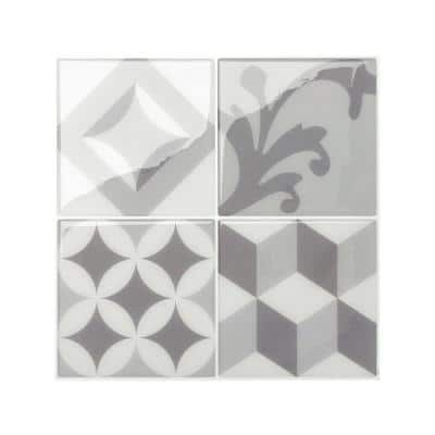 Vintage Gallo Gray 9 in. x 9 in. Vinyl Peel and Stick Tile (2.36 sq. ft./ 4-pack)