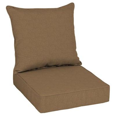 Oak Cliff 24 x 24 Sunbrella Cast Teak Deep Seating Outdoor Lounge Chair Cushion