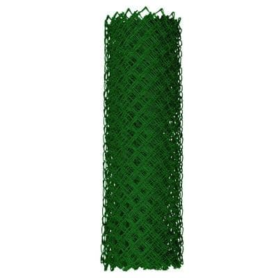 4 ft. x 50 ft. 9-Gauge Green Chain Link Fabric