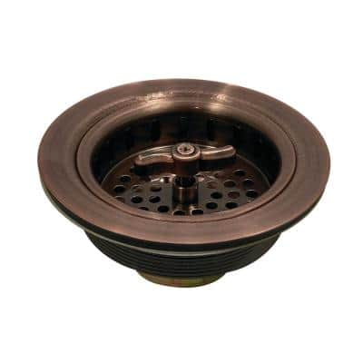 Tacoma 4-1/2 in. Spin and Seal Stainless Steel Basket Strainer in Antique Copper