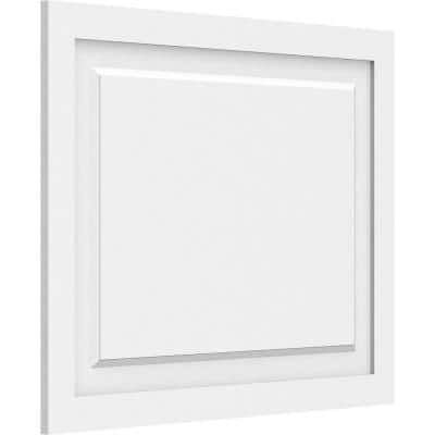 5/8 in. x 2-1/2 ft. x 2 ft. Harrison Raised Panel White PVC Decorative Wall Panel