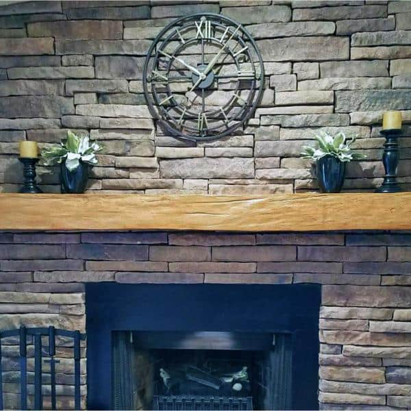 Ekena Millwork 8 In X 12 In X 7 Ft Rough Sawn Faux Wood Beam Fireplace Mantel Unfinished Manurs08x12x84un The Home Depot