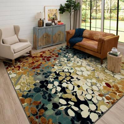 Radiance Multi 10 ft. x 10 ft. Floral Area Rug