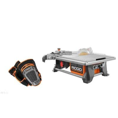 6.5 Amp Corded 7 in. Table Top Wet Tile Saw with Pro-Hinge Stabilizing Knee Pads