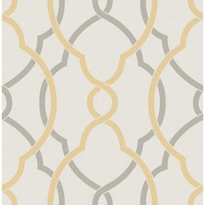 Sausalito Yellow Lattice Yellow Wallpaper Sample