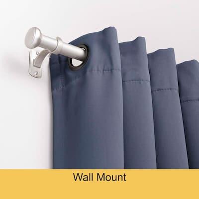 Weaver 72 in. - 144 in. Adjustable 1 in. Single Indoor/Outdoor Rust-Resistant Curtain Rod in Brushed Nickel