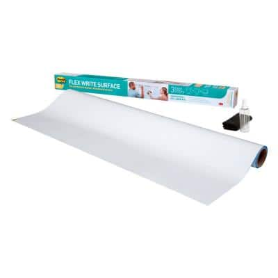 Flex Write Surface 8 ft. x 4 ft. Roll The Permanent Marker Whiteboard Surface 1-Roll (Case of 6)