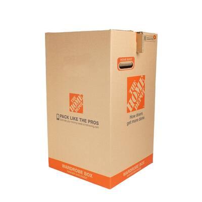 20 in. L x 20 in. W x 34 in. D Easy Up Wardrobe Moving Box
