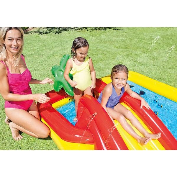 """Intex 100/"""" x 77/"""" Inflatable Ocean Play Center Kids Backyard Kiddie Pool /& Games"""