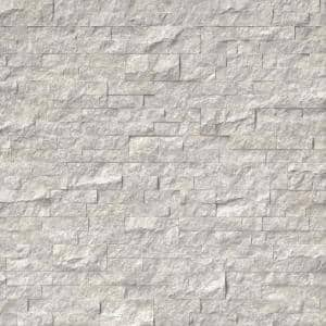 Silver Canyon Splitface Ledger Panel 6 in. x 24 in. Marble Wall Tile (10 cases / 60 sq. ft. / pallet)