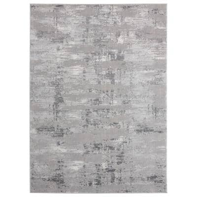Cascades Salish Grey 7 ft. 10 in. x 10 ft. 6 in. Area Rug