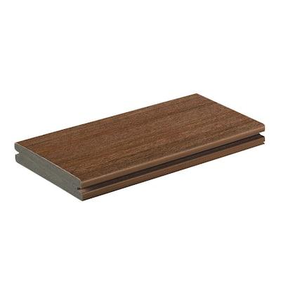 AZEK Vintage 1 in. x 5.5 in. x 1 ft. Mahogany PVC Deck Board Sample
