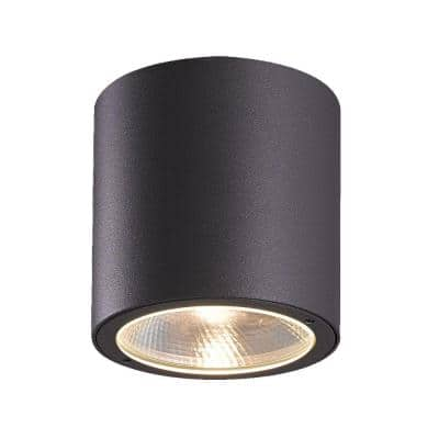 Sky Collection 1-Light Graphite Grey Outdoor LED Flush Mount