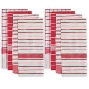 Red Cotton Basic Dish Towels (Set of 8)