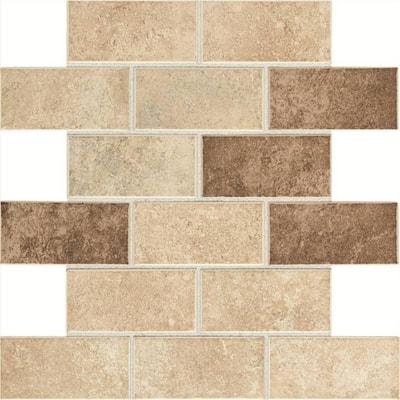 Brick Joint Mosaic Tile Tile The Home Depot