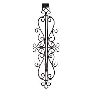 Brown Metal 5 in. - 19 in. Adjustable Wreath Hanger (Colonial Design)