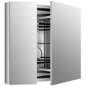 Verdera 34 in. W x 30 in. H Recessed Medicine Cabinet in Anodized Aluminum