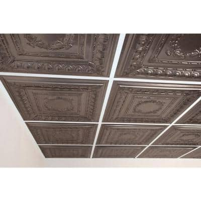 Empire Faux Tin 2 ft. x 2 ft. Lay-in or Glue-up Ceiling Panel (Case of 6)