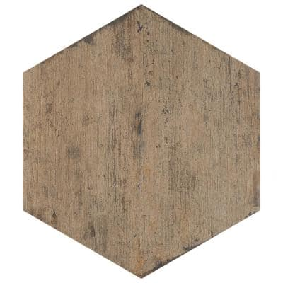 Retro Hex Terra 14-1/8 in. x 16-1/4 in. Porcelain Floor and Wall Tile (11.05 sq. ft. / case)