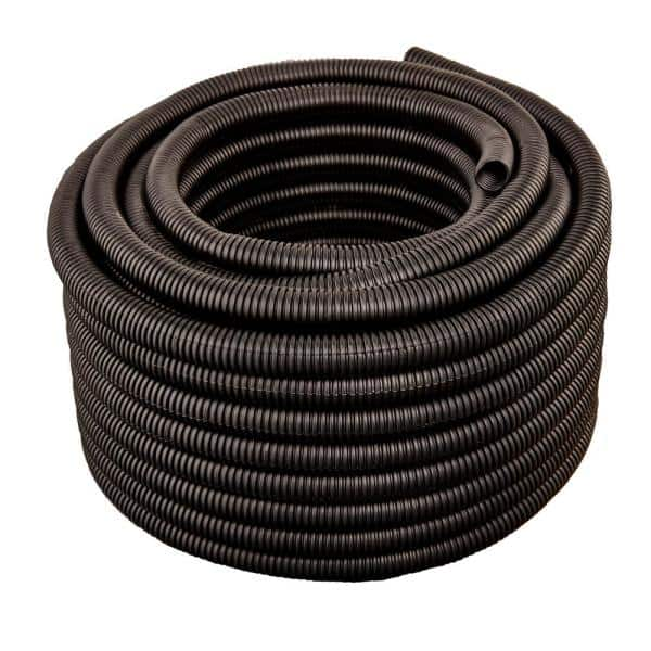Hydromaxx 2 In Dia X 100 Ft Black Flexible Corrugated Polyethylene Split Tubing And Convoluted Wire Loom Bls0200100 The Home Depot